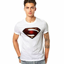 Men Printed T-shirt /t shirt - Superman Printed T Shirt - Man of Steel - White
