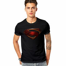 Men Printed T-shirt /t shirt - Superman Printed T Shirt - Man of Steel - Black