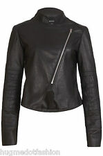 Leather Jacket for New Womens In black color lambskin leather jacket coat