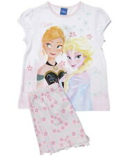 Girls Disney Frozen Pyjamas Anna and Elsa Floral Short PJS Age's 2-8 Years NEW