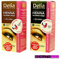 DELIA Henna Eyelash Eyebrow Gel Tint Kit CHOOSE COLOR DL014