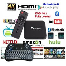 Penta Core TX5 Pro 16GB Bluetooth Android 6.0 1080p 4K TV Box+Backlit Keyboard