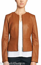 New Women Jacket Real Bomber in Indian Sheep Leather in Black moter cycle