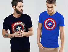 Captain America Combo - T-shirt High Quality Printed Round Neck T-Shirt