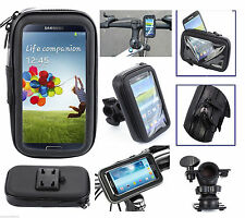 Bike Bicycle Motorcycle Waterproof Phone Tab Case Bag and Handlebar Mount Holder