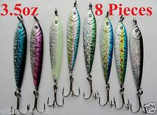 8 Pieces 3.5oz Mega Live Bait Metal Jigs Saltwater Fishing Lures - select C