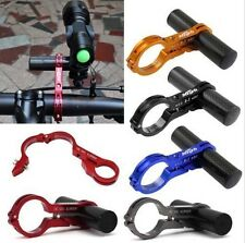 Handlebar Extension Bicycle Bike Light Flashlight LED Lamp Holder Extender Mount