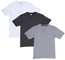 Fleximaa Men's Cotton Henley Neck T-Shirts (Pack of 3) (hwh-hsgrey-hgrey)