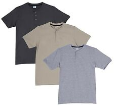 Fleximaa Men's Cotton Henley Neck T-Shirts (Pack of 3) (hbis-hsgrey-hgrey)