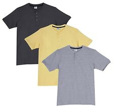 Fleximaa Men's Cotton Henley Neck T-Shirts (Pack of 3) (hyell-hsgrey-hgrey)