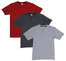 Fleximaa Men's Cotton Henley Neck T-Shirts (Pack of 3) (hred-hsgrey-hgrey)