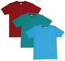 Fleximaa Men's Cotton Henley Neck T-Shirts (Pack of 3) (hred-hblue-hrgr)