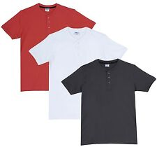 Fleximaa Men's Cotton Henley Neck T-Shirts (Pack of 3) (hwh-hsgrey-hcred)