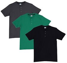Fleximaa Men's Cotton Henley Neck T-Shirts (Pack of 3) (hbla-hpgr-hsgrey)
