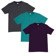 Fleximaa Men's Cotton Henley Neck T-Shirts (Pack of 3) (hpur-hrgr-hsgrey)