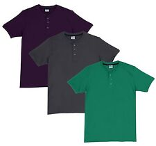 Fleximaa Men's Cotton Henley Neck T-Shirts (Pack of 3) (hsgrey-hpur-hpgr)