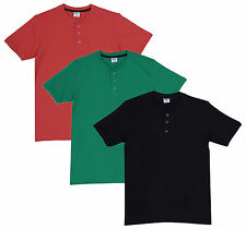 Fleximaa Men's Cotton Henley Neck T-Shirts (Pack of 3) (hbla-hpgr-hcred)