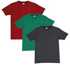 Fleximaa Men's Cotton Henley Neck T-Shirts (Pack of 3) (hred-hpgr-hsgrey)
