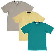 Fleximaa Men's Cotton Henley Neck T-Shirts (Pack of 3) (hyell-hrgr-hbis)