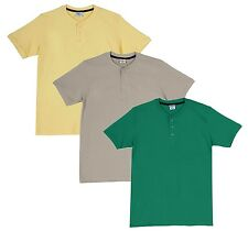 Fleximaa Men's Cotton Henley Neck T-Shirts (Pack of 3) (hyell-hbis-hpgr)