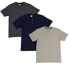 Fleximaa Men's Cotton Henley Neck T-Shirts (Pack of 3) (hsgrey-hnbl-hbis)
