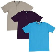 Fleximaa Men's Cotton Henley Neck T-Shirts (Pack of 3) (hpur-hblue-hbis)