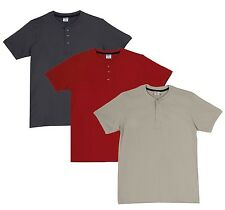 Fleximaa Men's Cotton Henley Neck T-Shirts (Pack of 3) (hred-hsgrey-hbis)