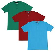 Fleximaa Men's Cotton Henley Neck T-Shirts (Pack of 3) (hred-hblue-hpgr)