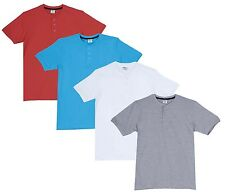 Fleximaa Men's Cotton Henley Neck T-Shirts (Pack of 4) (hwh-htblue-hcred-hgrey)