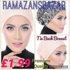 Top Quality Under Scarf Hijab Tie back Bonnet Cap stretchable 14 colours £1.99