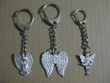 Angel Wings, Guardian Angel, Fairy Princess  -  Quality Pewter Keyring