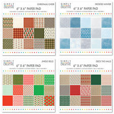 Simply Creative scrapbooking carta 15.2cmx15.2cm pacchetto completo/