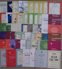 "SHEET MUSIC & BOOKLETS FOR THE PIANO - GRADES 1 - 8.        ""E"""
