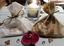Wedding Favour Sweet Confetti Bags Personalised Rustic Vintage Brown White Cake