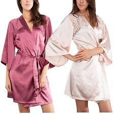 Womens Babydoll Dress Lace Lingerie Sexy Satin Sleepwear Robes Night Gown 8-18