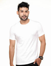 Fleximaa Mens Plain Round Neck T-Shirt - 100% Cotton