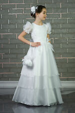 New Luxury Flower Girl Bridesmaid Party First Holy Communion Dress Age 2 - 14