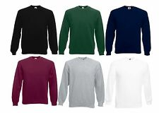 Fruit of the Loom Herren Raglan Fleece Sweatshirt Pullover