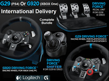 LOGITECH G29 PS4 or G920 XBOX ONE/PC Steering Wheel & Pedals + Gearstick Shifter