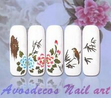 water decal stickers ongles HD nail art manucure vernis gel série G