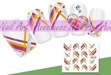 water decal stickers ongles HD nail art manucure vernis gel série F