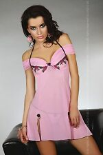 LIVCO CORSETTI Chameli Luxury Underwired Sheer Chemise and Matching G-String Set