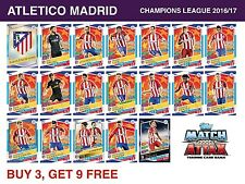 Match Attax Champions League 2016/17 - ATLETICO MADRID - 16/17