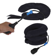 Air Inflatable 3Layers Pillow Cervical Neck Head Pain Traction Support Brace