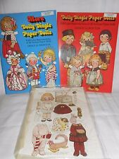 2 Dolly Dingle & More Dolly Dingle Paper Doll books 1978 & 1979 & Magazine Page