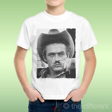 camiseta Niño niño James Dean Dedo Bigote bigote Divertido Idea De Regalo