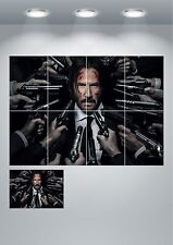 John Wick Keanu Reeves Wall Art Poster Print A3 / A4 Sections or Giant 1Piece