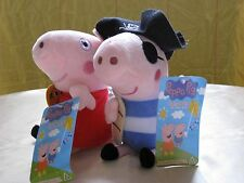New Peppa Pig & George Pig Soft Toys (5 Inches)