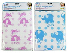 Easy Clean Baby Nappy Changing Mat Pink Blue Wipe Clean Reuseable Travel Mat New