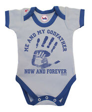 BritTot Baby Grow | Me & My Godfather Now & Forever | Boys Bodysuit Vest Gift